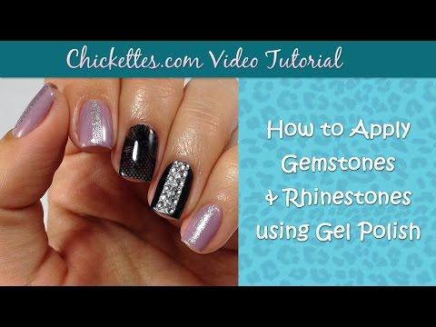 How to apply gemstones and rhinestones with gel polish