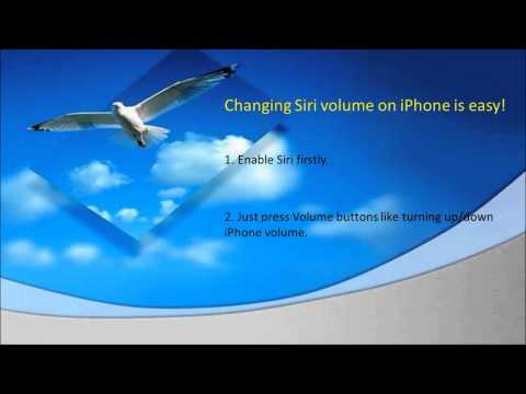 Tips to change Siri's volume on iPhone 4S or iPhone 5