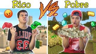 RICO VS POBRE NA ESCOLA #42 - NO MINECRAFT !!