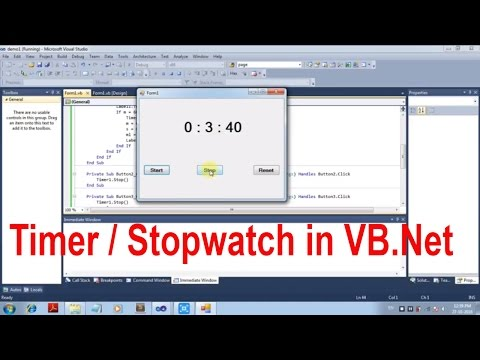 How to make Timer Application in visual basic [Beginners]