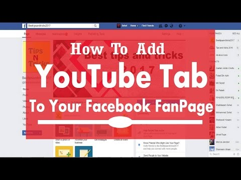 how to install youtube tab on facebook fanpage -Youtube button on facebook page