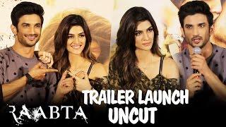 UNCUT - Raabta Trailer Launch   Sushant Singh Rajput & Kriti Sanon   Press Conference