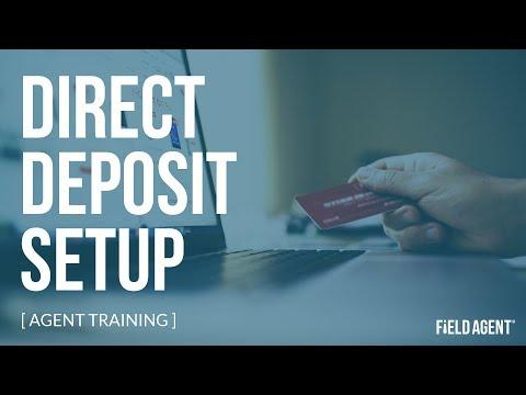 Direct Deposit Setup - Agent Cashout