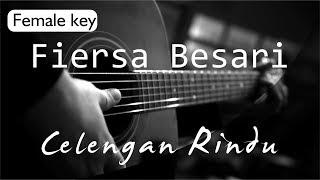 Celengan Rindu - Fiersa Besari Female Key ( Acoustic Karaoke )