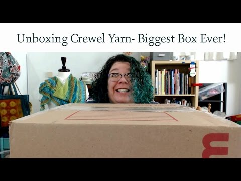 Unboxing Crewel Yarn - Biggest Box Ever
