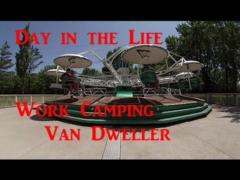 Day in the Life Work Camping Van Dweller