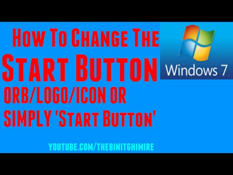How to change the Windows 7 Start Button ORB/Icon/Logo