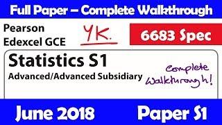 Edexcel GCE Maths   June 2018 Paper C3   Complete