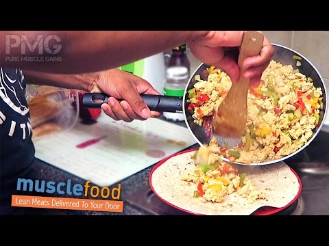 Simple High Protein Chicken Mince Wraps | Bodybuilding Recipes