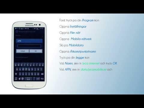 Inställningar för mobilsurf - SAMSUNG