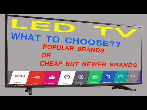 Which led tv to buy in India -renowned brand or cheaper brands- in Hindi