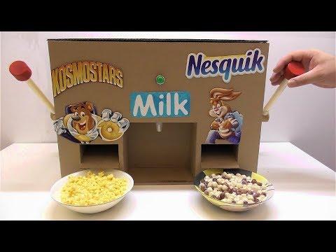How to make Nesquik and Kosmostars machine with milk