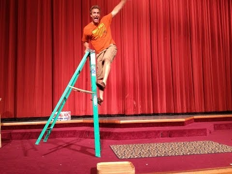 Professional Clown Comedy Tutorials - Ladder Tip Over