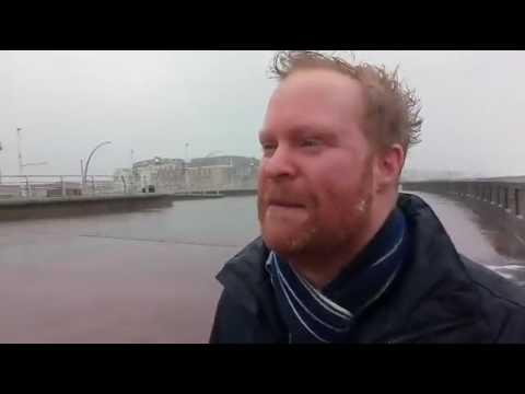 STORM DORIS: Rob Stocks live from Blackpool promenade