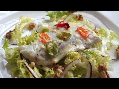 Corvina with endive salad