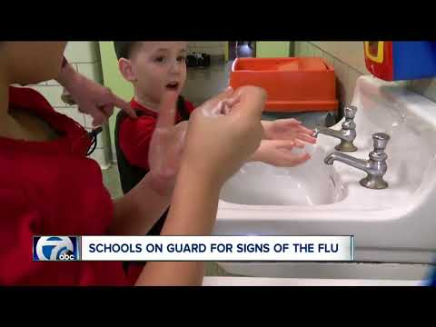 Schools trying to prevent the spread of flu germs
