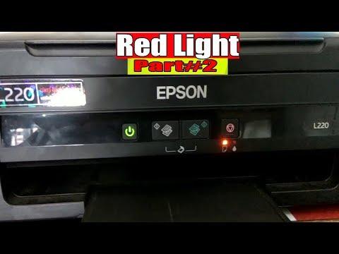 Epson red light blinking problem solution l130,l220,l380 PART-II
