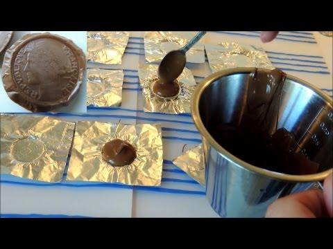 Homemade chocolate money, coins / Gör egna chokladpengar som prydnader på tårtor och glass