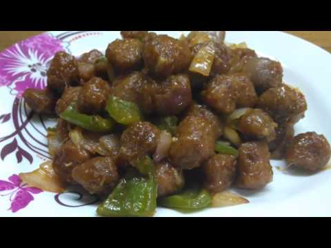 How to make Soya bean Manchurian recipe | Soya chilli |soft & spicy delicious.