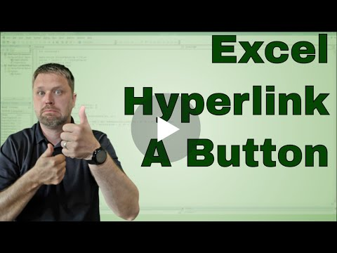 Excel Hyperlinking Buttons