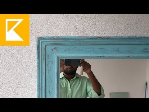 How to - Distress Finish Painted Mirror