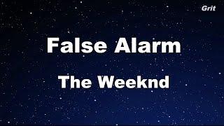 False Alarm The Weeknd Karaoke With Guide Melody Instrumental