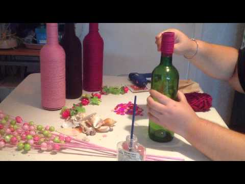 wine bottle craft on a budget