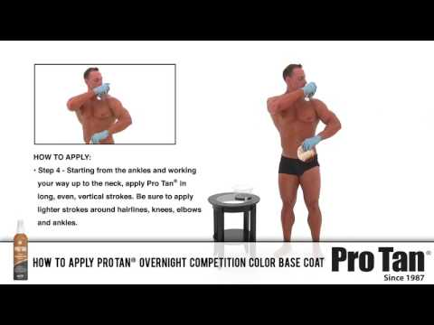 How to Apply Pro Tan® Overnight Competition Color Base Coat (Male)