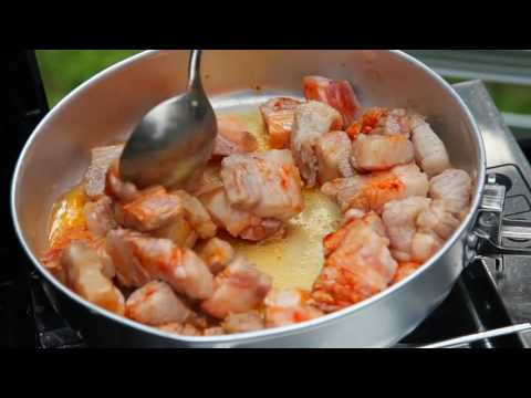 Camping Meals With Mountain Warehouse   Pork Belly, Tomato & Butterbean Stew