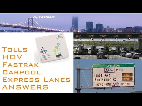 Fastrak Flex in the Bay Area - Express Lanes, Bridge Tolls, Cars, and Motorcycles