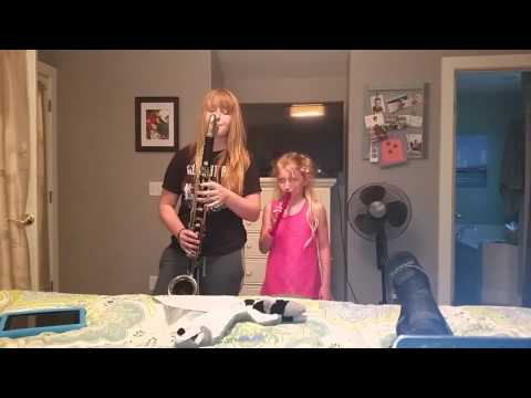 Bass clarinet and recorder sister jam
