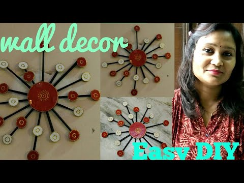 DIY,wall deacor,wall decor from newspaper,anvesha,s creativity