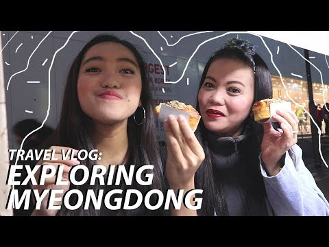 TRAVEL VLOG: EXPLORING MYEONGDONG (STREET FOOD, SHOPPING, KPOP MERCH, etc) | Seouraldine