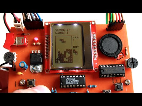 Simple Arduino based Portable Game Console