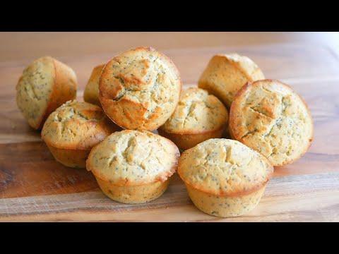 How to make muffins recipe | Lemon  poppy seed muffins recipe