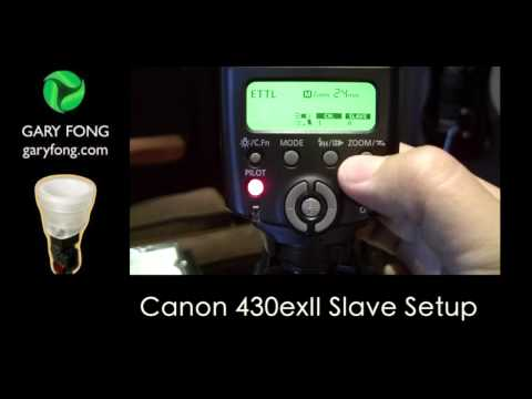 Canon 430exII Setup for Remote Slave