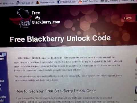 How to unlock your BLACKBERRY - FREE UNLOCK CODE 100% WORKS please watch
