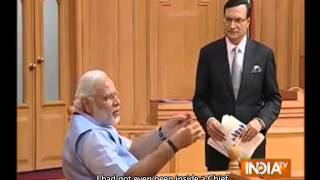 Shri Modi's exclusive interview with India TV