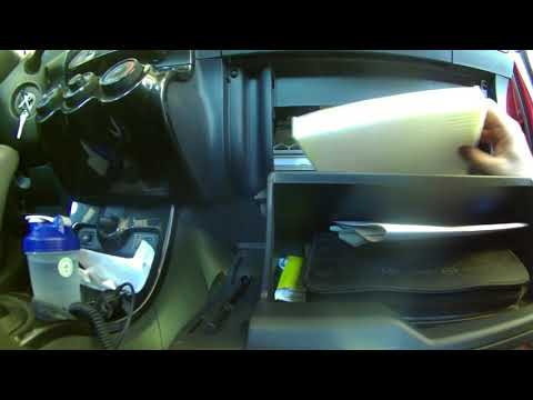 Cabin air filter replacement 2008 Scion XD. Install, remove or replace