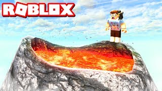 SURVIVE A VOLCANO IN ROBLOX