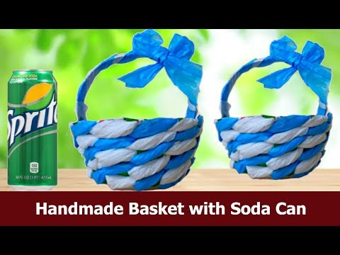 Best use of soda can and plastic bags / DIY basket out of soda can and plastic bags