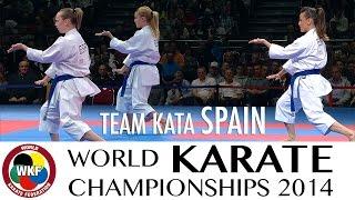 Team Kata SPAIN. Kata Annan. 2014 World Karate Championships.