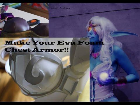 How to Make  Eva Foam Chest Cosplay Armor //DIY Tutorial