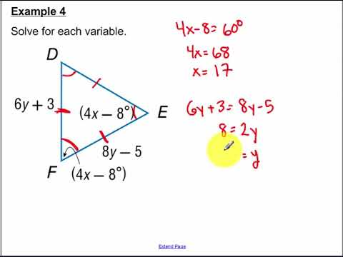 4.6 - Isosceles and Equilateral Triangles