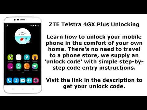Unlock ZTE Telstra 4GX Plus By Unlock Code