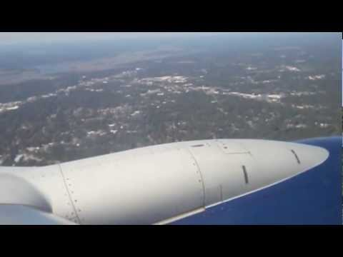 Landing at Charleston, SC on a Delta Boeing 737