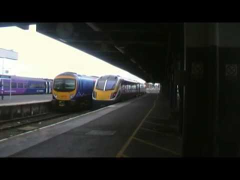 northern trains, blackpool north-man vic 180 leaving blackpool north
