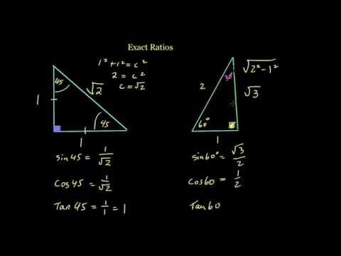 Exact Trigonometric Ratios 1 of 2 - The Triangles