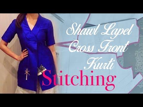 Tuxedo (Shawl) Lapel Kurti - Stitching