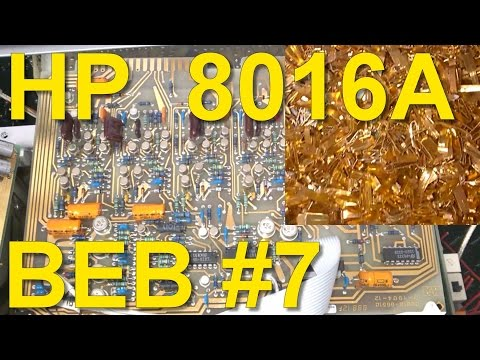 HP 8016A Word Generator Teardown, Scrapping for Gold, Beautiful-Electronics Blog #7